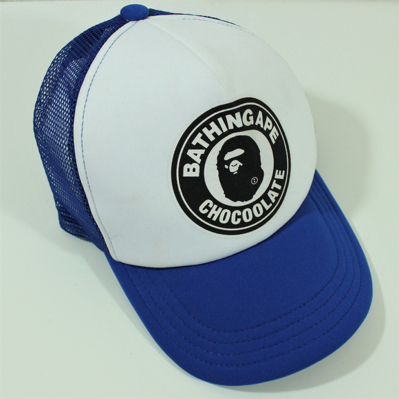 d61ccfcf58d Chocoolate Bathing Ape Bape Trucker Spell Out Hat